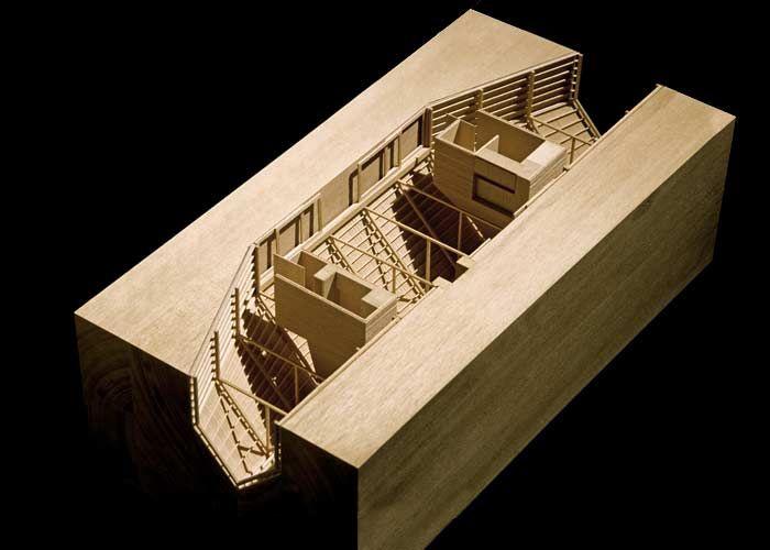 Prototype Cottage / Patkau Architects,  maquette, architectural model, maqueta, modulo