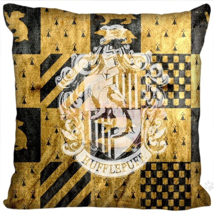 H P#110 New Hot Custom Pillowcase hufflepuff logo #9 soft 45x45 cm (Twin sides) Pillow Cover Zippered SQ01003@H0110