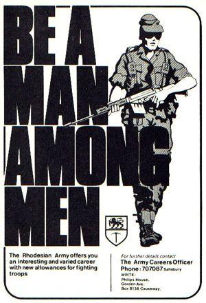 Rhodesian War recruitment poster.