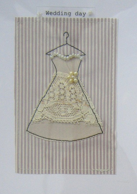 fabric on handmade card