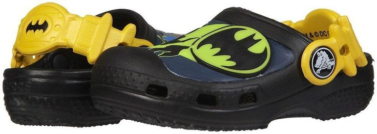 Crocs Creative Batman Glow-in-the-Dark Clog - Black Fully-molded Croslite material construction for maximum lightweight cushioning.Special Batman designBackstrap has holes to accommodate... More Details