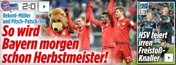 Bayern w/ astro #snake #Mueller 2:0 (Ph. Lahm a #scorpio)+#HSV 3:1 http://www.msn.com/de-de/sport/fussball/bayern-vor-herbstmeisterschaft-hsv-gewinnt-nordderby/ http://web.de/magazine/sport/fussball/bundesliga/bayern-herbstmeisterschaft-hsv-gewinnt-nordderby-31168626 http://www.bild.de/bundesliga/1-liga/saison-2015-2016/spielbericht-fc-bayern-muenchen-gegen-hertha-bsc-am-14-Spieltag-41764726.bild.html