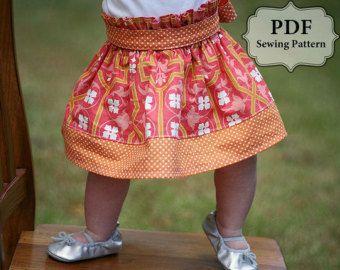 Schort knoop jurk naaien PDF patroon maten 3m door pitterpatternshop