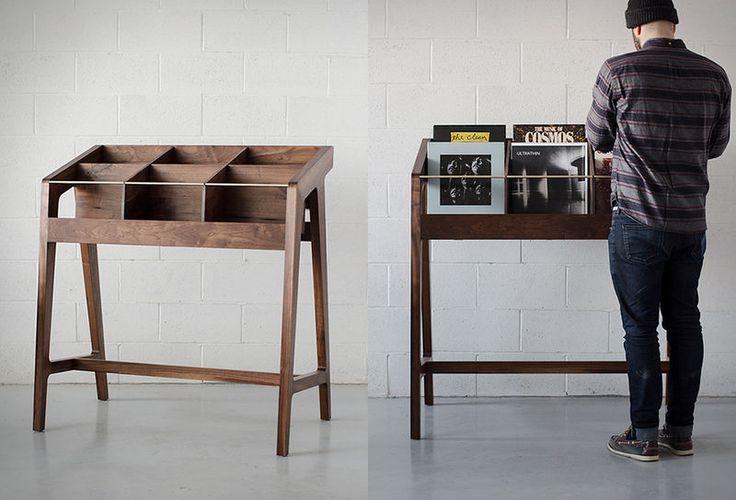 Sleek Vinyl Record Displays - The 'Record Display I' by Kai Takeshima Upscales Forgotten Furniture