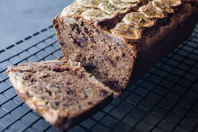 Skinnymixer's Banana, Walnut & Date Loaf Healthy Thermomix Recipes