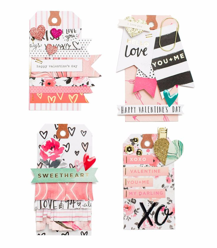 CLUSTER EMBELLISHMENTS ON TAGS - Hello, Love Tags                                                                                                                                                      More