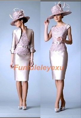 2014 Mother Of The Groom Dresses Free Jacket Knee Length Wedding Party Gowns