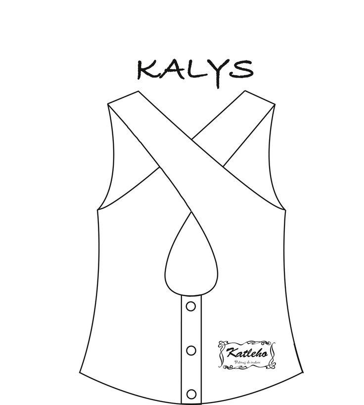 Patron de couture femme PDF créateur - Top Kalys du 34 au 54 Katleho : Patrons par katleho