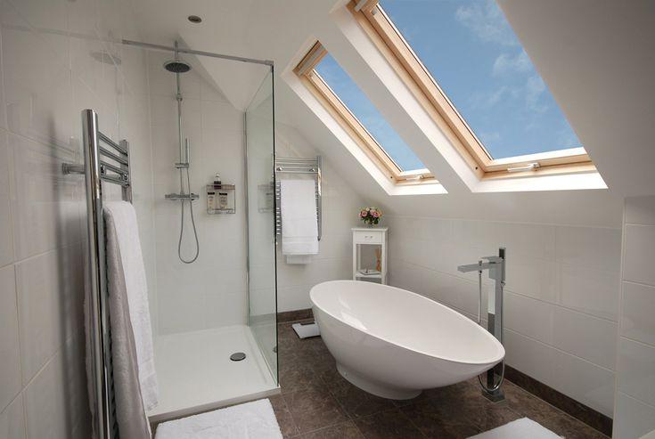 Gorgeous Side Dormer loft conversion bathroom from absolutelofts.com