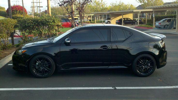 black scion tc with black rims | View Larger Photo