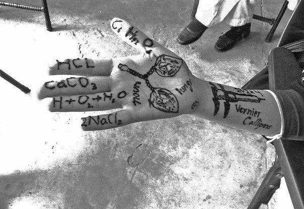 Международный день девочек. Изображения хной на руке Малалы Юсуфзай.
