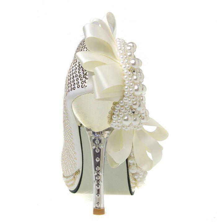 unique wedding shoes for the bride | ... custom wedding shoes - Baroque Pearl high-heeled shoes, bride wedding