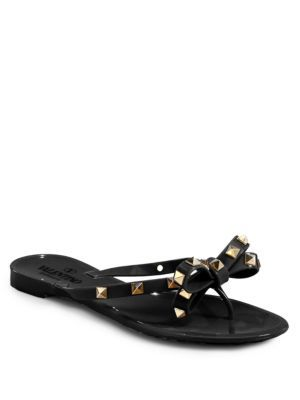 VALENTINO Rockstud Jelly Sandals. #valentino #shoes #sandals