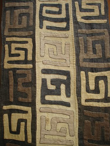 kuba cloth - love the bold graphic quality and the neutral palette