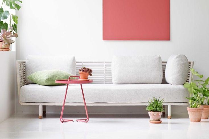 SENCE biała sofa rattanowa