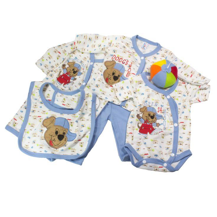 Hermoso primer día para niño, Muy completo, cómodo, y fácil de combinar. Contiene seis piezas como se muestra en la imagen. https://nibi-baby-store.pswebstore.com/primeras-mudas/14-set-primer-dia-nino-6-piezas.html