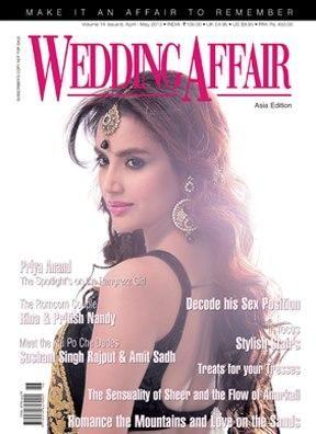 Priya Anand on the cover of Wedding Affair