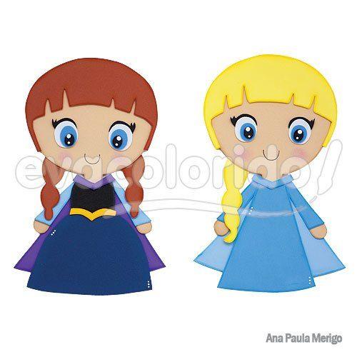 Molde 227 – Elsa e Anna – Frozen