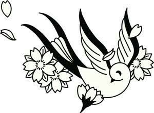 Line Drawing Of Flowers Clipart : 34 best cherry blossom tattoo drawings images on pinterest