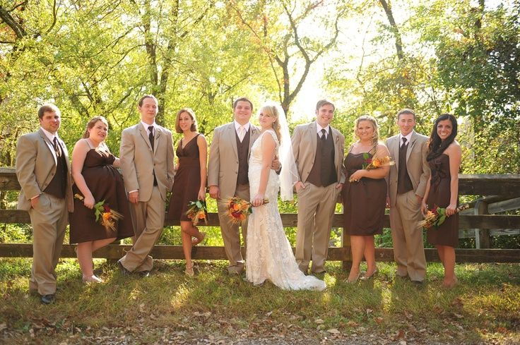 outdoor fall party | Outdoor Fall Rustic Wedding Party | Wedding party photography