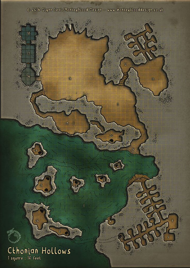 Cthonian Hollows Colour 76 best Maps and