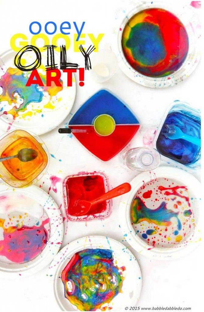 Process Art for Kids - Ooey Gooey Oily Art