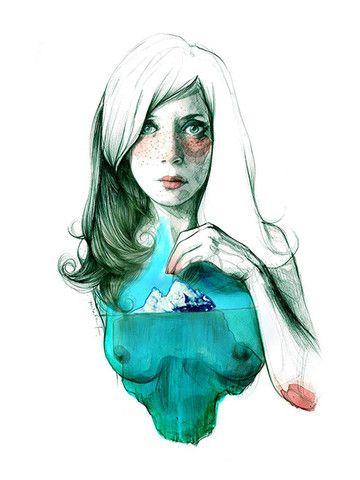 Lámina Paula Bonet - Iceberg - ❣ Relicário ❣ - makemyworldburn.tumblr.com