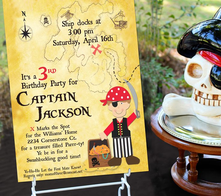 Pirate Party Invitation | Pirate Birthday Invitation | Pirate Party Invite | Pirate Invitation | Boy Birthday | Amanda's Parties To Go by AmandasPartiesToGo on Etsy https://www.etsy.com/listing/60081412/pirate-party-invitation-pirate-birthday