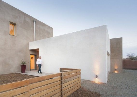 """""""This is VOLKsHouse, and it's a prototype for an affordable, net-zero energy family home in Santa Fe, New Mexico. In terms of achievements, the home carries an Emerald rating from NAHB and is also the first certified Passive House on the New Mexico market."""" (Jetson Green)Arrested Architecture, Passive House, Lr Volkshous West, Energy House, Interiors Design, Passive Energy, Santa Fe, Architecture Design, New Mexico"""