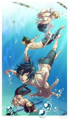 """Aniplogs Anime Source: """"Free!"""" anime streams Swimming in Action PV"""