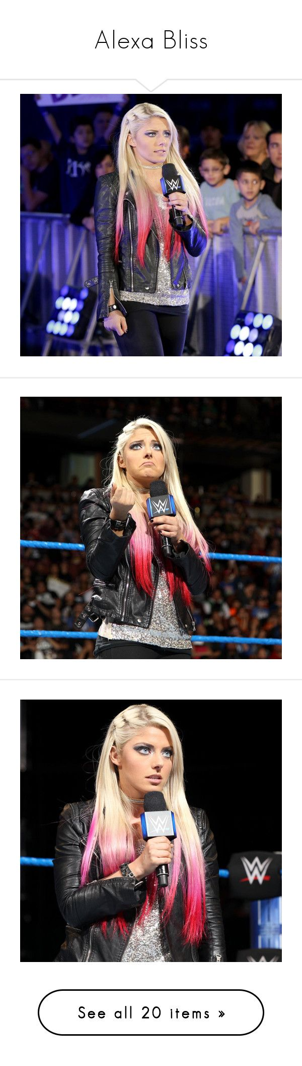 """""""Alexa Bliss"""" by amysykes-697 ❤ liked on Polyvore featuring wwe"""