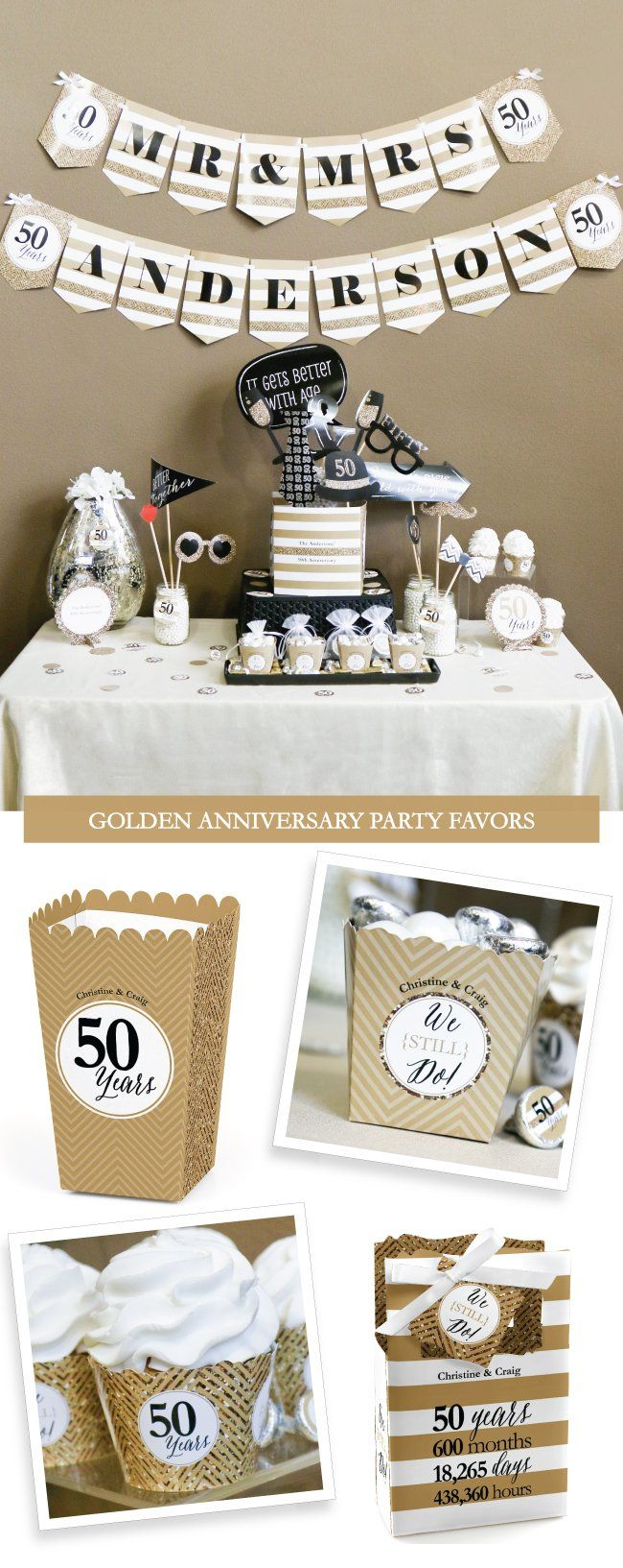 86 best Anniversary Party Supplies & Ideas images on Pinterest ...