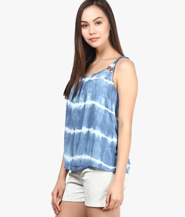 ONLY Blue & white tye n dye Top