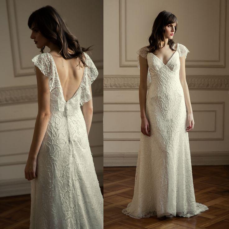 Vestido de novia trompeta bordado · Mermaid wedding dress embroidery lace