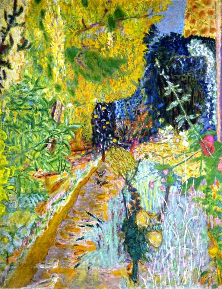 The Garden. / Le jardin. / By Pierre Bonnard, 1936-1938.