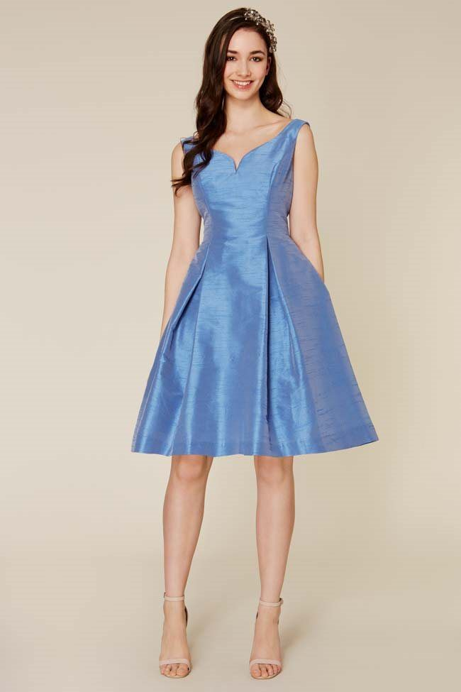 This pretty V-neck dress from Coast would suit a bridesmaid with an hourglass figure