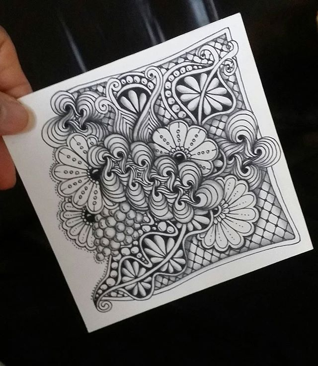 "Inspirational zentangle. This link ""http://m.blog.naver.com/ktjeonga"" was in the description."