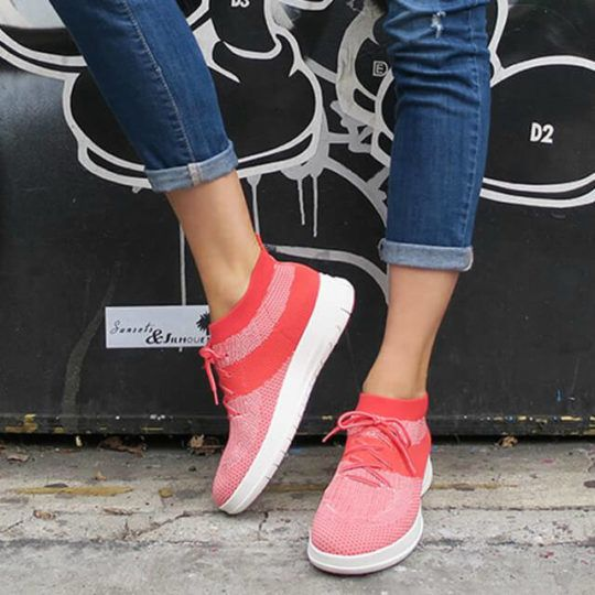7bf0a93d2e91 FitFlop Ballet Flats   High Top Sneakers in Awesome Uberknit ...