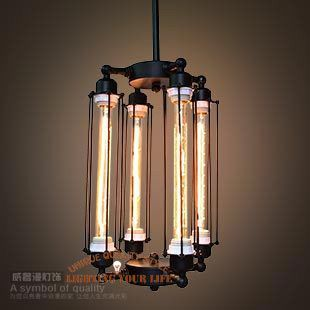 2014 new RH loft vintage Industrial chandelier steampunk Wrought Iron chandelier LED Drawing room chandelier(China (Mainland))