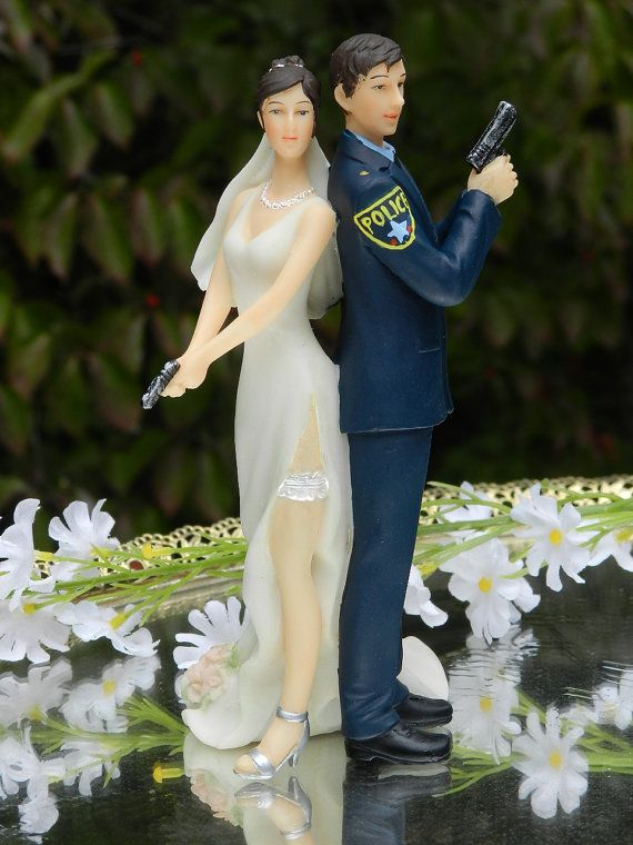 Police Officer Bride Groom Guns Wedding Cake Law Enforcement Today www.lawenforcementtoday.com