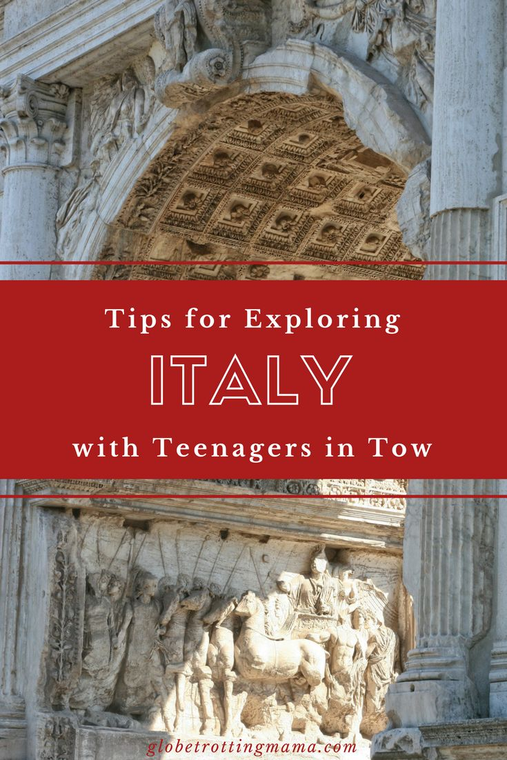 Practical tips for traveling in Italy with teens. While we normally travel independently OR as part of a group when visiting a new destination as a family, this time we tried something in-between, which worked perfectly for us! We were able to squeeze in all of the best things to do in Italy while still having flexibility which is crucial when traveling with teenagers. Travel tips for family travel in Europe. | Globetrotting Mama Travel and Parenting Blog #Italy