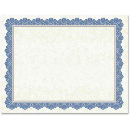 Geographics, GEO47849, Drama Blue Border Blank Certificates