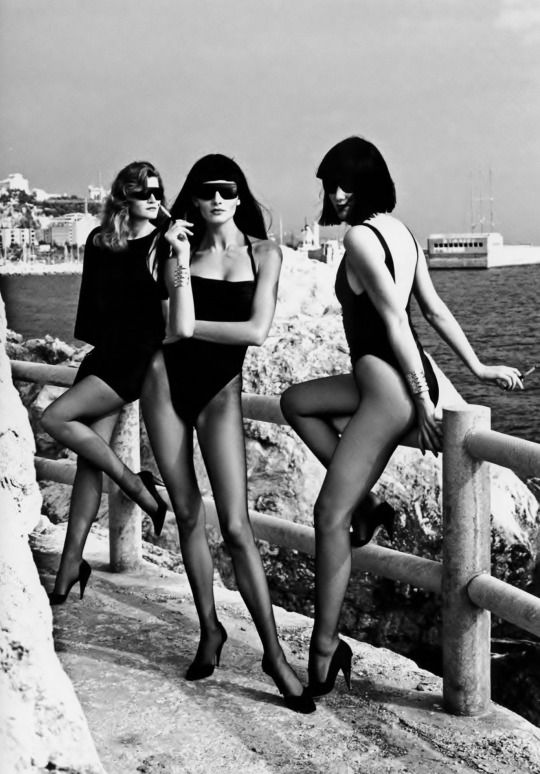 Photo by Helmut Newton  #Versace Campaign, ss 1986
