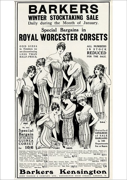 Print Of Advert For Barkers Winter Corsets 1916 In 2020 Poster Prints Online Printing Poster Size Prints