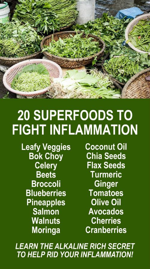 20 Superfoods To Fight Inflammation. Learn about Zija's Moringa based product line. Alkaline rich and antioxidant loaded health that fights free radicals that cause oxidative stress which is a leading contributor to inflammation. Get our FREE eBook that i