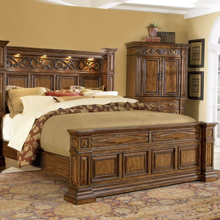 art furniture panel bedroom set tobacco cheap western sets rustic baby bedding
