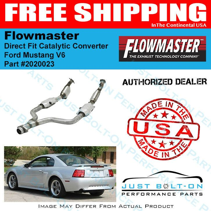 Flowmaster 99 04 Ford Mustang 3 8l 3 9l Direct Fit Catalytic Converter 2020023 Performance Parts Ford Mustang V6 2004 Ford Mustang