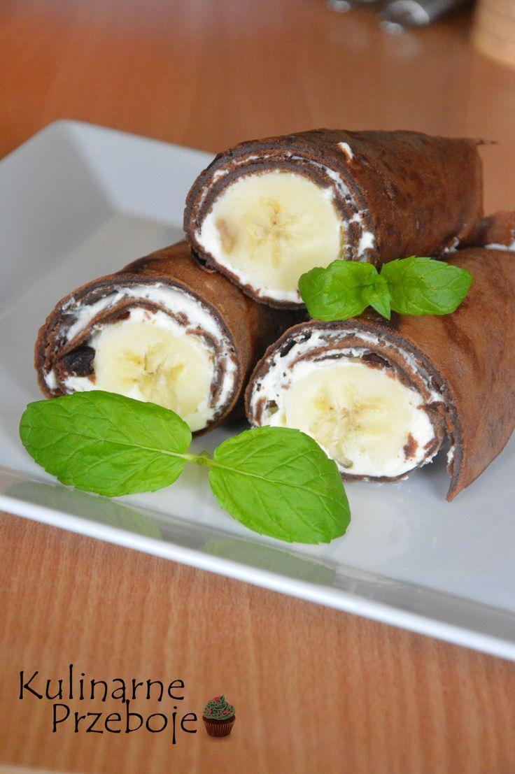 czekoladowe naleśniki z bananem i mascarpone