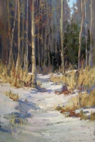 Shades of Winter by Kim Lordier Pastel ~ 18 x 12