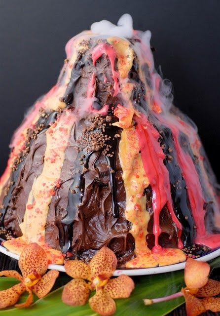 1000 Ideas About Volcano Cake On Pinterest Volcano